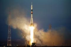 Старт ракеты-носителя Союз МС