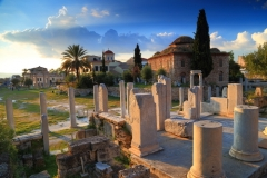 roman-agora-with-ancient-columns-and-byzantine-church