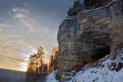 Игнатиевская пещера зимой