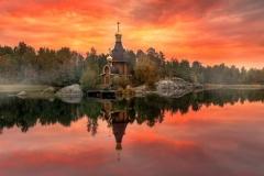 деревянная церковь в Карелии