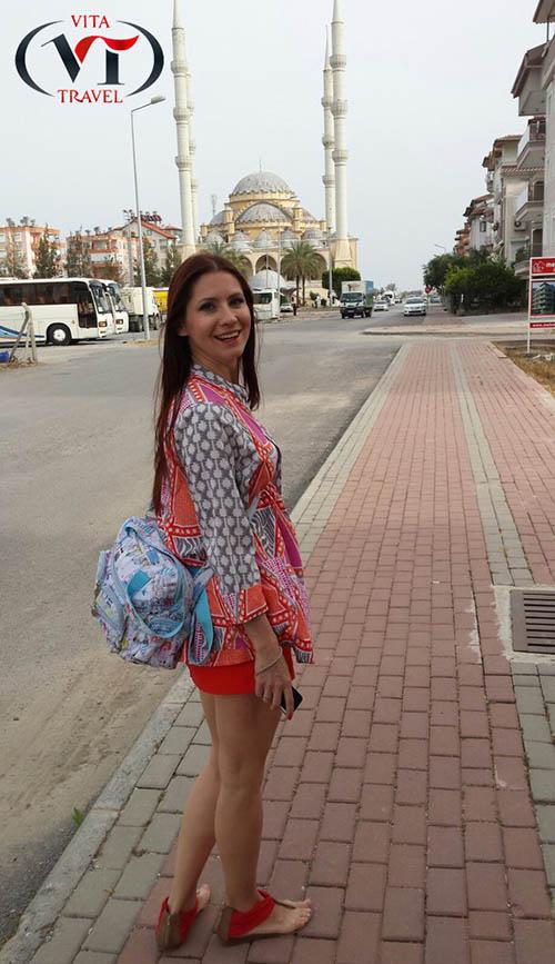 туристка в Турции, Сиде