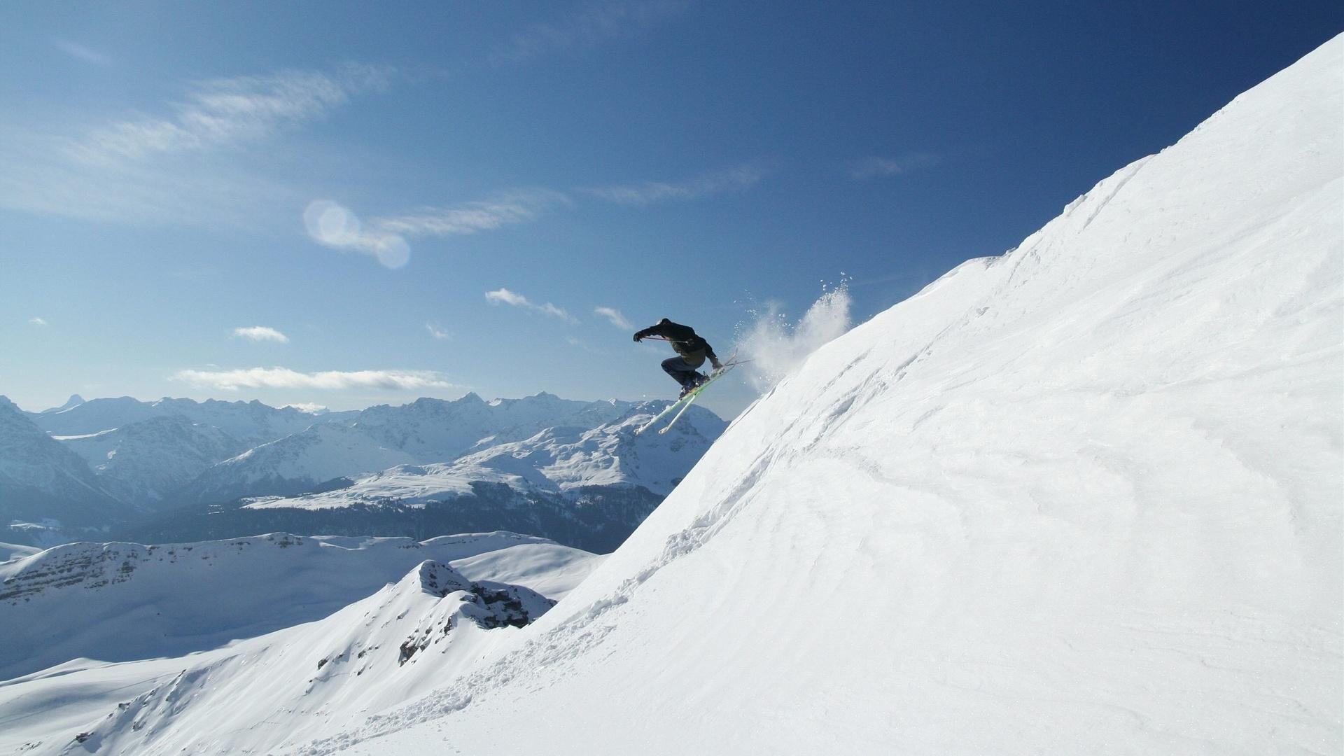 фото с горнолыжником