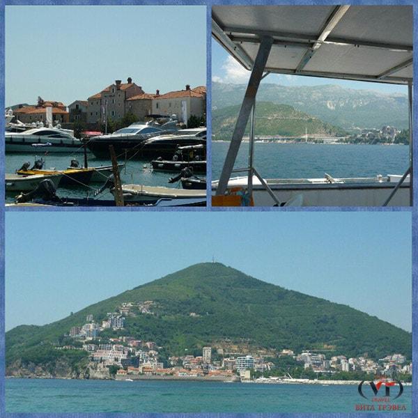 Вид на Старый Град Будвы и на остров Святого Николая